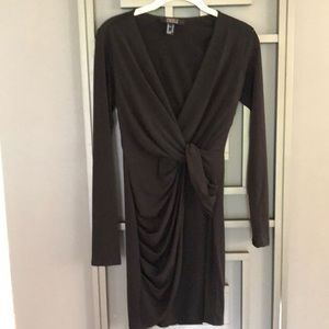 Forever 21 Black knotted front Wrap style dress M